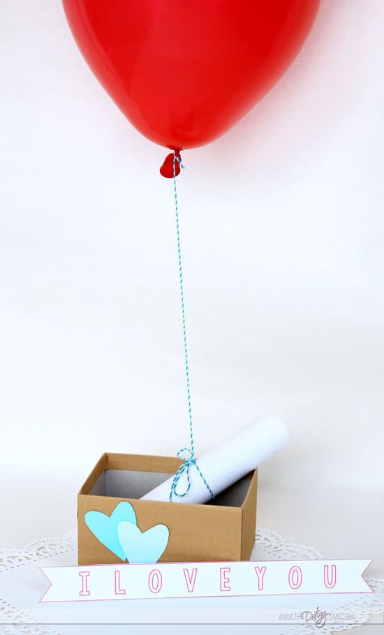 Ballon with Love Letter