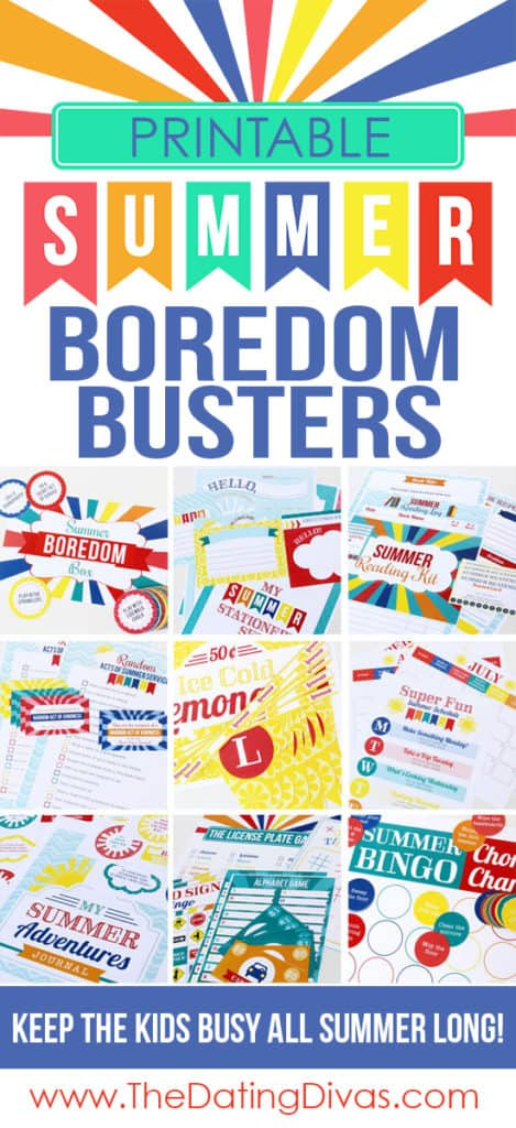 Printable Summer Boredom Busters for Kids