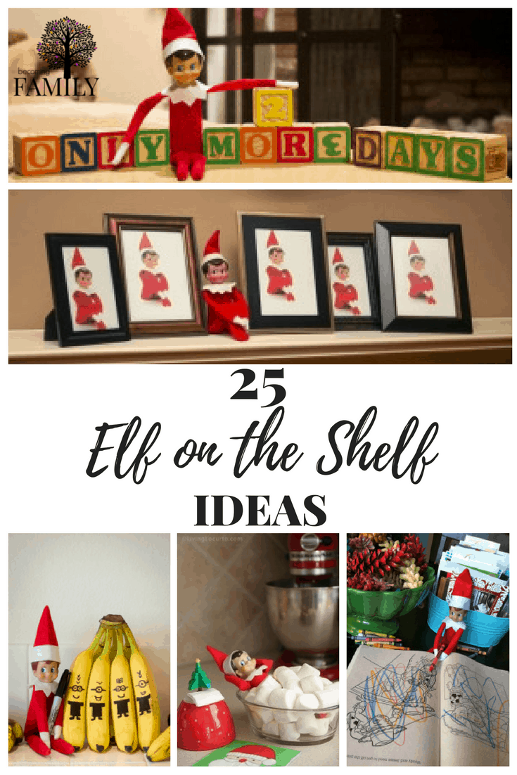 Looking for Elf on the Shelf Ideas. Here are 25 ideas that can help you get started and for at least 25 days have something planned without thinking what to do next.