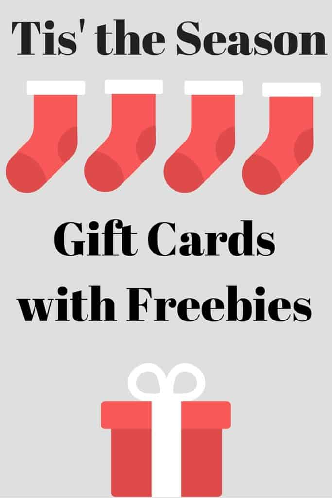 Gift Cards with Freebies