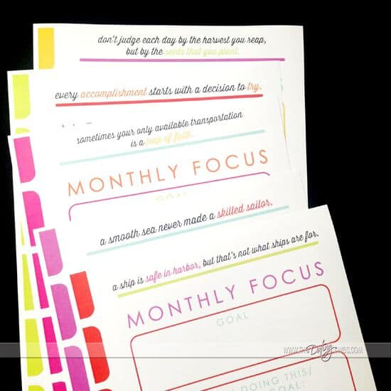 Monthly Focus on Goals