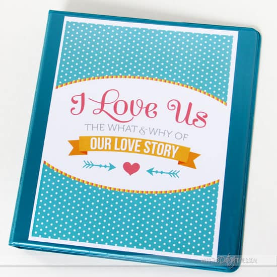 DIY Love Us Journal Valentine's