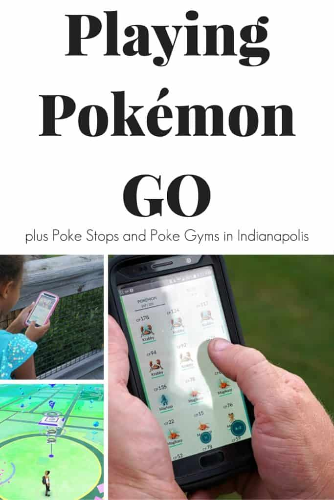 Playing Pokémon GO in Indianapolis plus Poké Stops and Poké Gyms