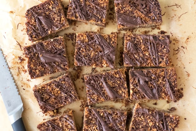 Back to School Snack: Coconut Chocolate Flapjack