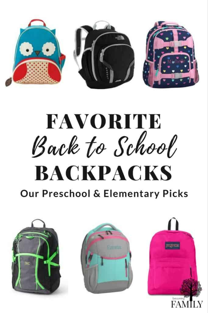 Really cute and practical school backpacks for preschool and elementary kids