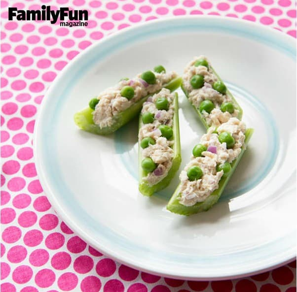 Back to School Snacks: Tuna Canoes
