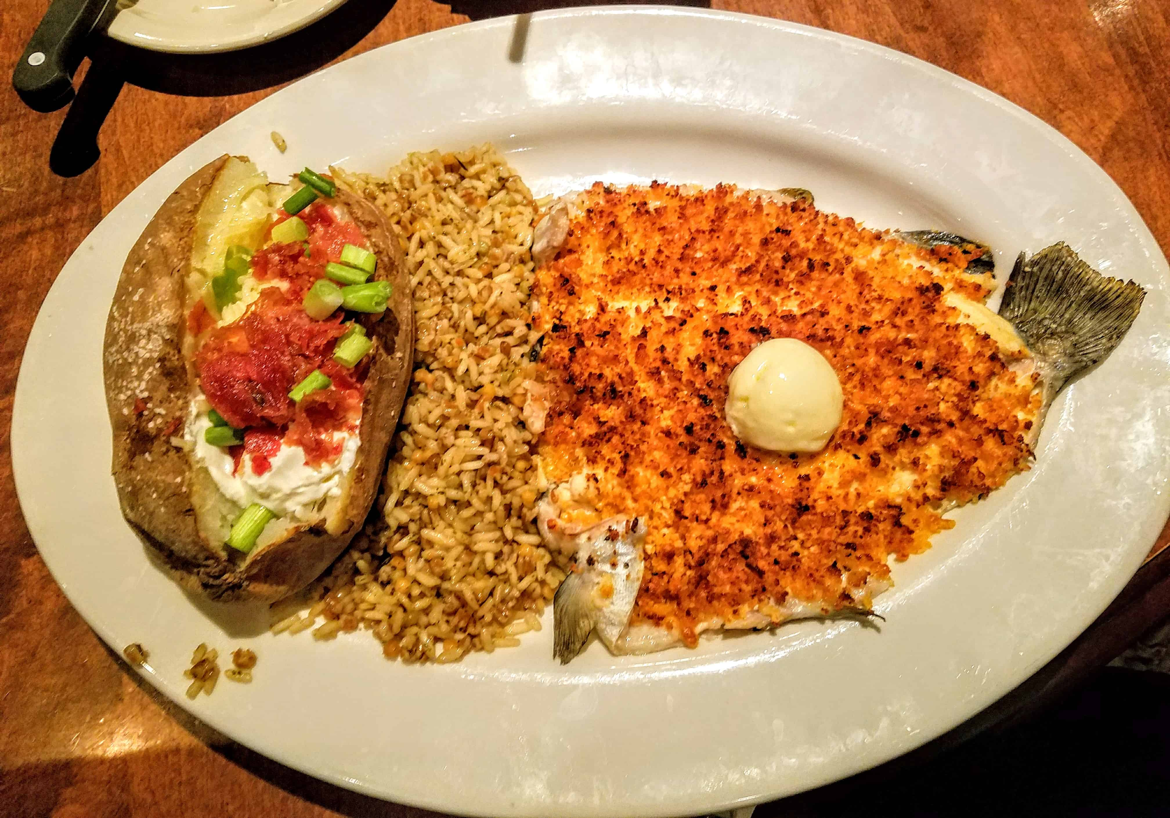 Fresh Herb Crusted Trout from Cherokee Grill Gatlinburg