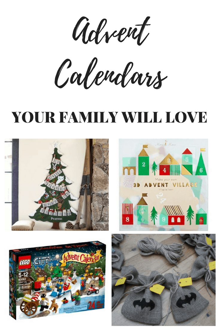 Advent Calendars that your kids will enjoy.