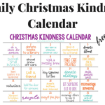 Family Christmas Kindness Calendar (Free Printable)