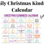 Family Christmas Kindness Calendar (Free Printable)