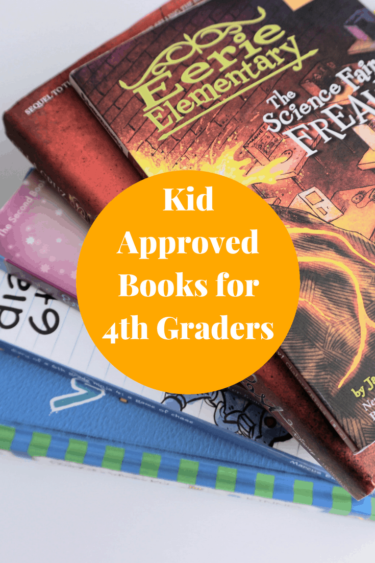 Finding books for 4th graders can be hard. Here are books my kids are currently reading and enjoy! Kid Approved Books for 4th Graders #4thgraders #booksfor4thgraders