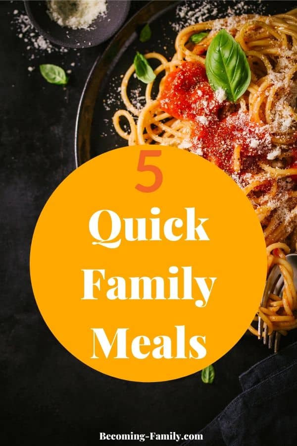 Quick Family Meals #familymeals #meals #quickmeals #30minutemeals