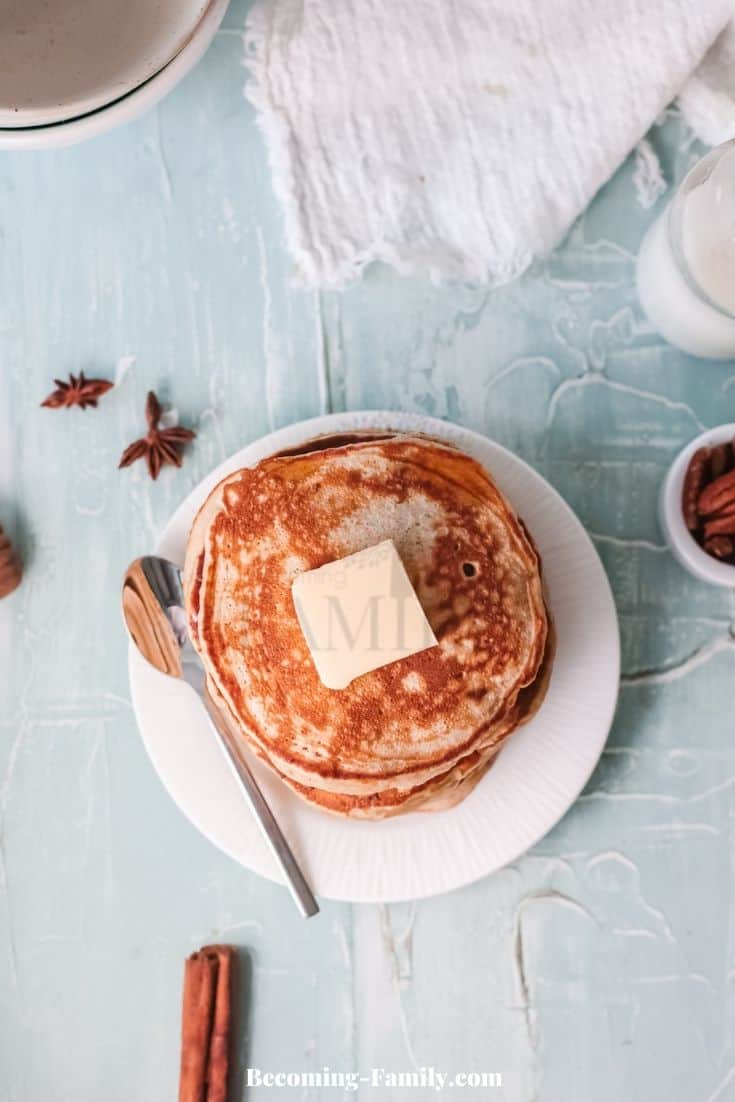 Cinnamon Maple Pancakes