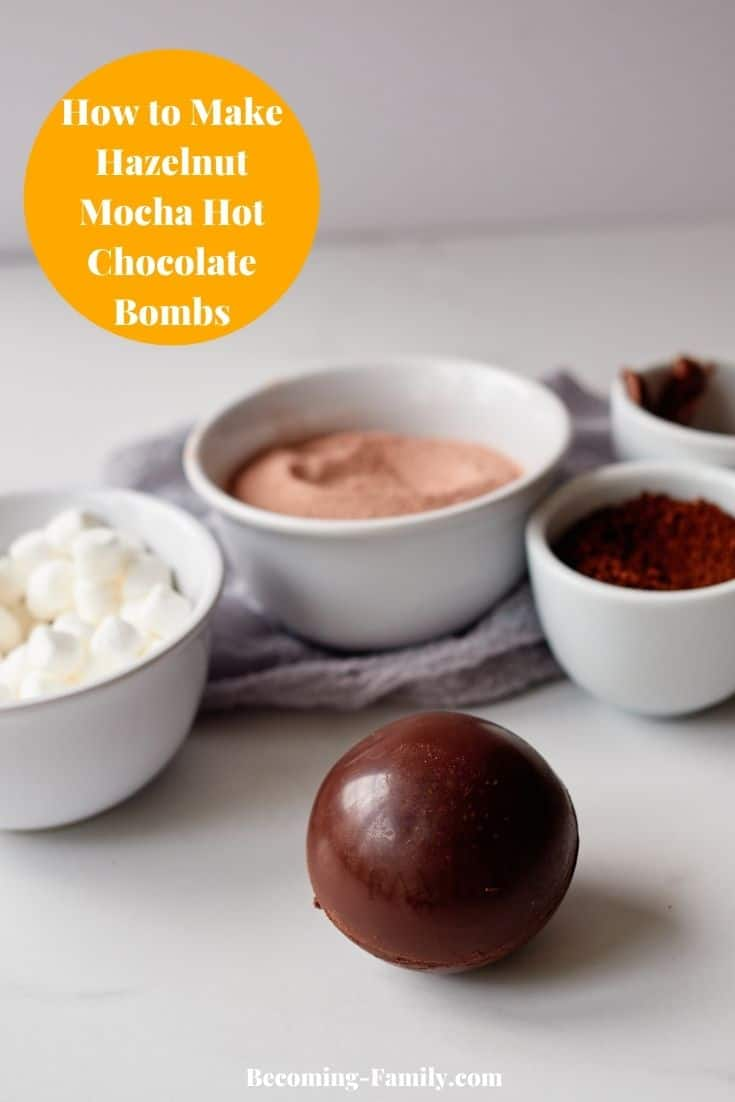 Hot chocolate bombs with marshmallows inside